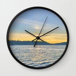 Port Orchard Sunset Wall Clock