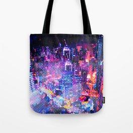 Cyberpunk City Tote Bag
