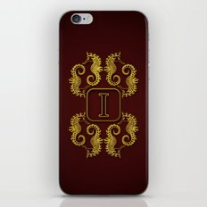 letter I seahorse iPhone & iPod Skin