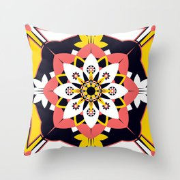 Poppy Blossom Throw Pillow