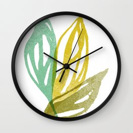 Flight (Aqua) Wall Clock