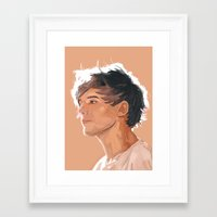 louis tomlinson Framed Art Prints featuring Louis Tomlinson  by Danny Spikes