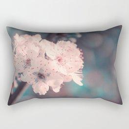 Delicate Strength (Spring White Cherry Blossom) Rectangular Pillow
