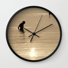 Silhouette of man Wall Clock