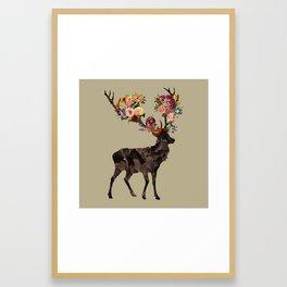 Spring Itself Deer Flower Floral Tshirt Floral Print Gift Framed Art Print