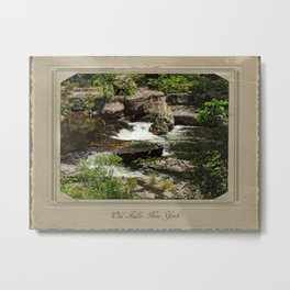 Old Falls Between the Trees Metal Print