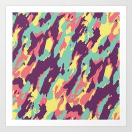 Camouflage Brown Camo Cargo Pattern Art Print