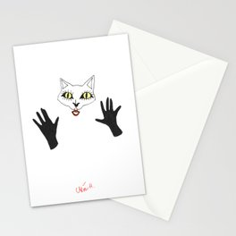 Cat girl 1 Stationery Cards