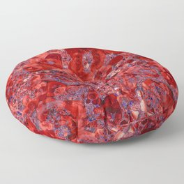 Marble Ruby Blood Red Agate Floor Pillow