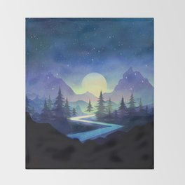 Touching the Stars Throw Blanket