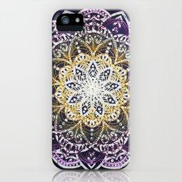 Glowing Mandala iPhone Case