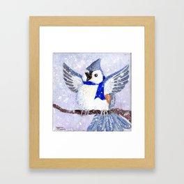 Winter Birds - Titmouse Framed Art Print
