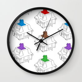 Mechanical Switches Wall Clock
