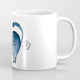 Fart blue cat Coffee Mug