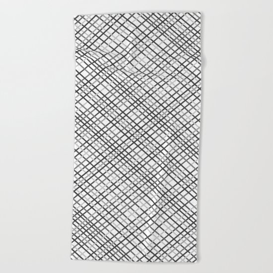 Weave 45 Black and White Beach Towel