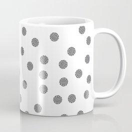 Preppy brushstroke dots black and white spots design minimal #society6 #decor #buyart #artprint Coffee Mug