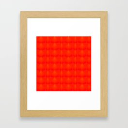 Mother of pearl pattern of red hearts and stripes on a ruby background. Framed Art Print