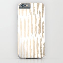 White Gold Sands Vertical Dash iPhone Case