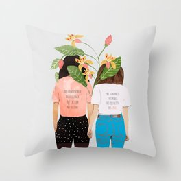 Motto #illustration #concept #painting Throw Pillow