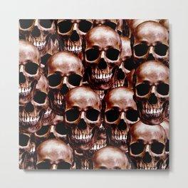 LG skull wall Metal Print