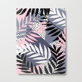Palms on Polka Dots Metal Print