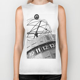 World Clock Berlin BW Biker Tank