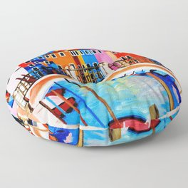 Colors of Venice Italy Floor Pillow