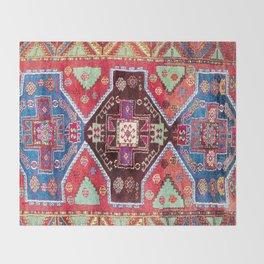 Malatya  Antique Turkish Rug Print Throw Blanket