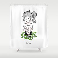 poison ivy Shower Curtains featuring Poison Ivy by Sarah Pinc by UCO Design