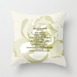 Palm of His Hands Throw Pillow