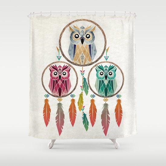 Dream owl shower curtain by manoou society6 for Dream home season 6