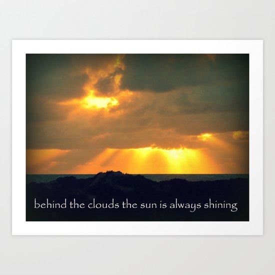The Sun Shines Through The Clouds Art Print