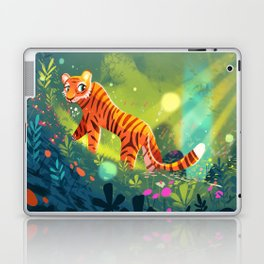 Tiger in the Garden of Kings Laptop & iPad Skin