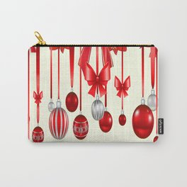 DECORATIVE RED CHRISTMAS ORNAMENTS &  HOLLY BERRIES  ART Carry-All Pouch