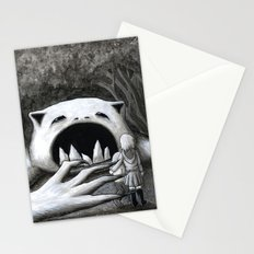 Monster in the Woods Stationery Cards