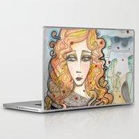 black widow Laptop & iPad Skins featuring Widow by Aleksandra Jevtovic