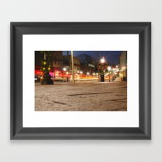 Downtown Blacksburg Christmas Framed Art Print