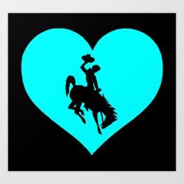 Cowboy Heart Art Print