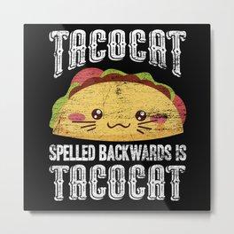 Tacocat Taco Metal Print