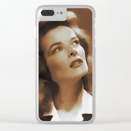 Katharine Hepburn, Hollywood Legend Clear iPhone Case