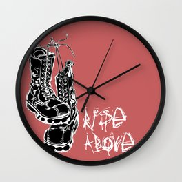 Rise Above Punk Boots Wall Clock