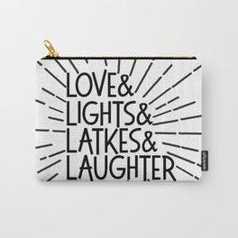LOVE & LIGHTS & LATKES & LAUGHTER Hanukkah ampersand design Carry-All Pouch