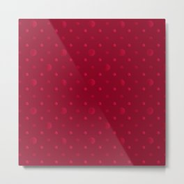 Red polka dots on a red background . Metal Print