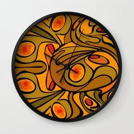 Rooster DeKooning Wall Clock