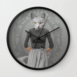 Cat Girl Pepe Psyche Wall Clock