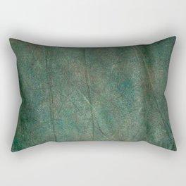 Green fabric Rectangular Pillow