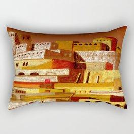 The fortress at sunset Rectangular Pillow
