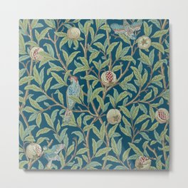 Birds and Pomegranates - William Morris Metal Print