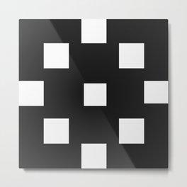 Off-White Cubes Metal Print