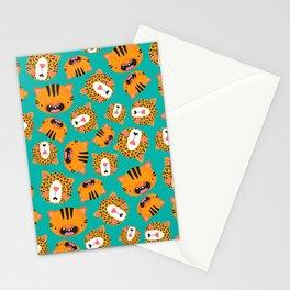 Happy Jungle Kitties Stationery Cards